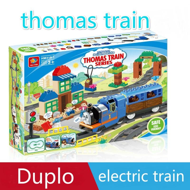 ФОТО thomas duplo train set plate duplo lepin figures Educational Toys compatible with lepin legoinglys duplo building blocks