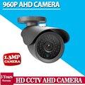 CCTV Камеры CCD 2500TVL AHD Камеры 960 P Открытый Водонепроницаемый 3.6 мм Объектив 1,3-МЕГАПИКСЕЛЬНОЙ Пуля Камеры Безопасности Работы AHD DVR