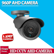 CCTV Camera CCD 2500TVL AHD Camera 960P Outdoor Waterproof 3.6mm Lens 1.3MP Bullet Security Camera Work For AHD DVR