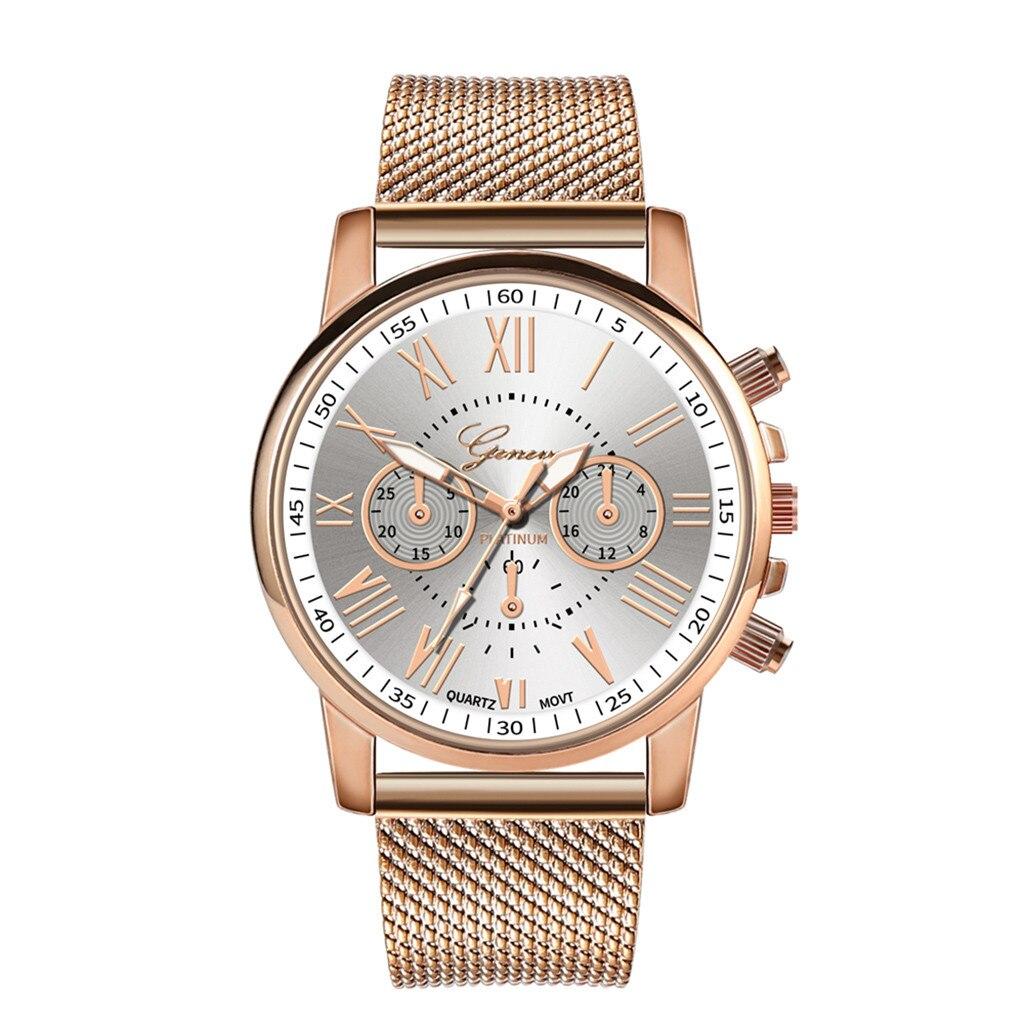 Роскошные Кварцевые часы для женщин и мужчин влюбленные пара Женские наручные часы Миланская нержавеющая сталь циферблат новое поступление - Цвет: H