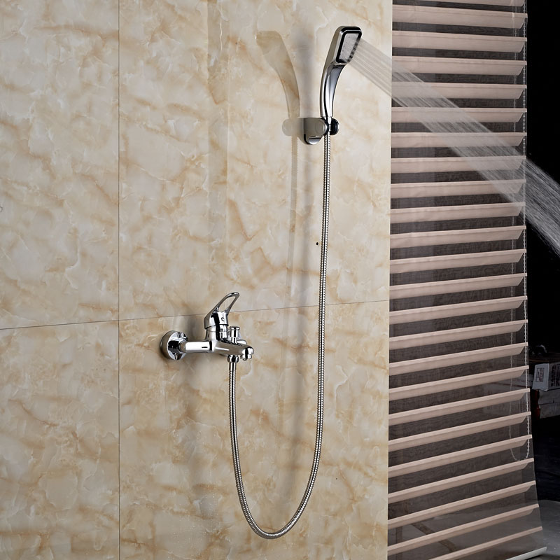 Factory Direct Sale Best Quality Cheap Shower Mixer Taps with Brass Hand Shower Polished factory direct sale best price 8 brass head shower with hand shower bathroom shower faucet antique