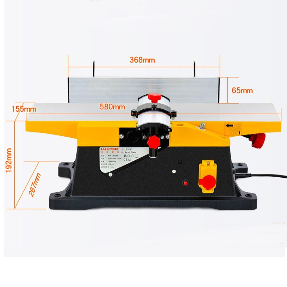 Rabot à bois 1800 W rabot à bois électrique pour le travail du bois