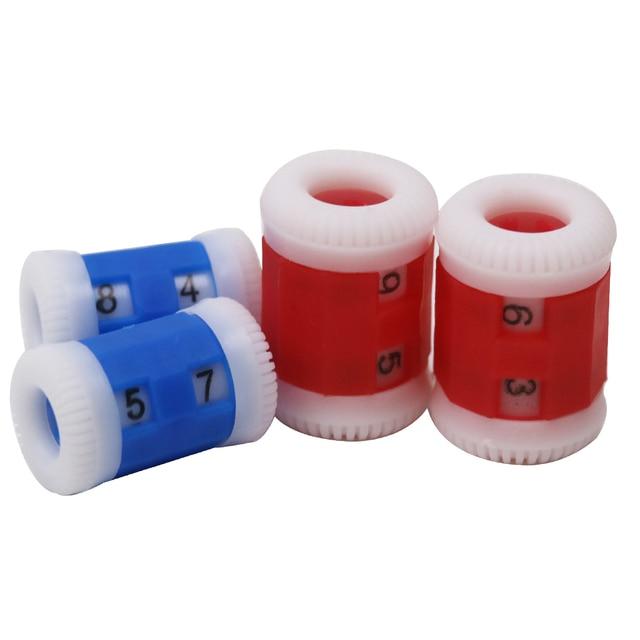 2 Sizes 4pcs Convenient Plastic Crochet Knitting Row Counter Round