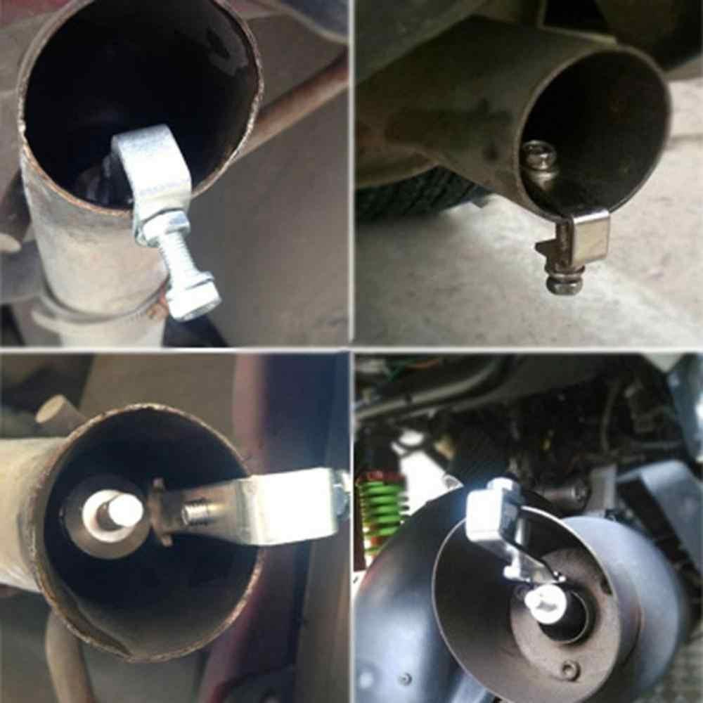 44-55mm auto tubo di scarico marmitta tubo di coda di alta qualità universale in acciaio inox tubo di scarico punta inserito argento