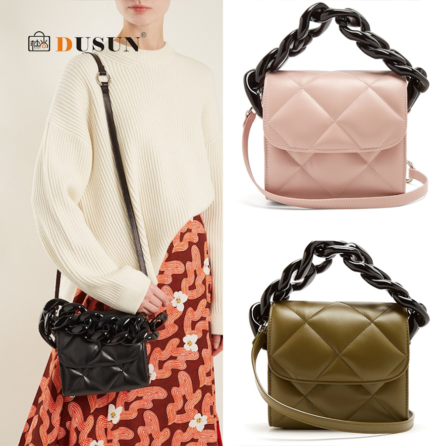 DUSUN Brand Crossbody Bag Diamond Lattice Luxury Handbags Women Bags Designer Quilted Chain Bags for Women 2018 Bolsa Feminina цены онлайн