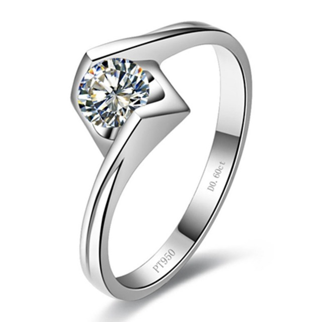 18K White Gold Plated Propose Jewelry 0 6CT Engagement Ring