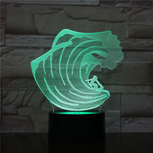 Unique Kids Led Nightlight Sport Surfing Night Lamp for Child Bedroom Decorative USB Wave Light Battery Operated