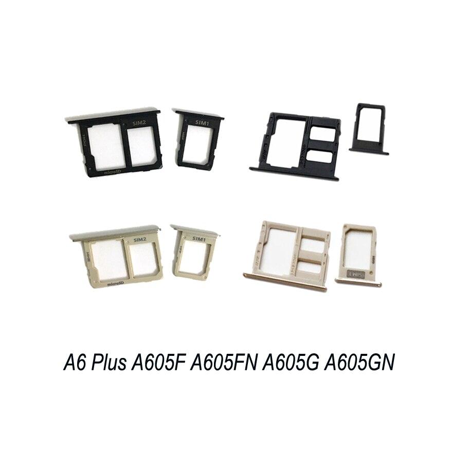 For Samsung Galaxy A6 Plus 2018 A605 A605F A605FN A605G A605GN Original Phone Housing SIM Tray Adapter Micro SD Card Tray Holder
