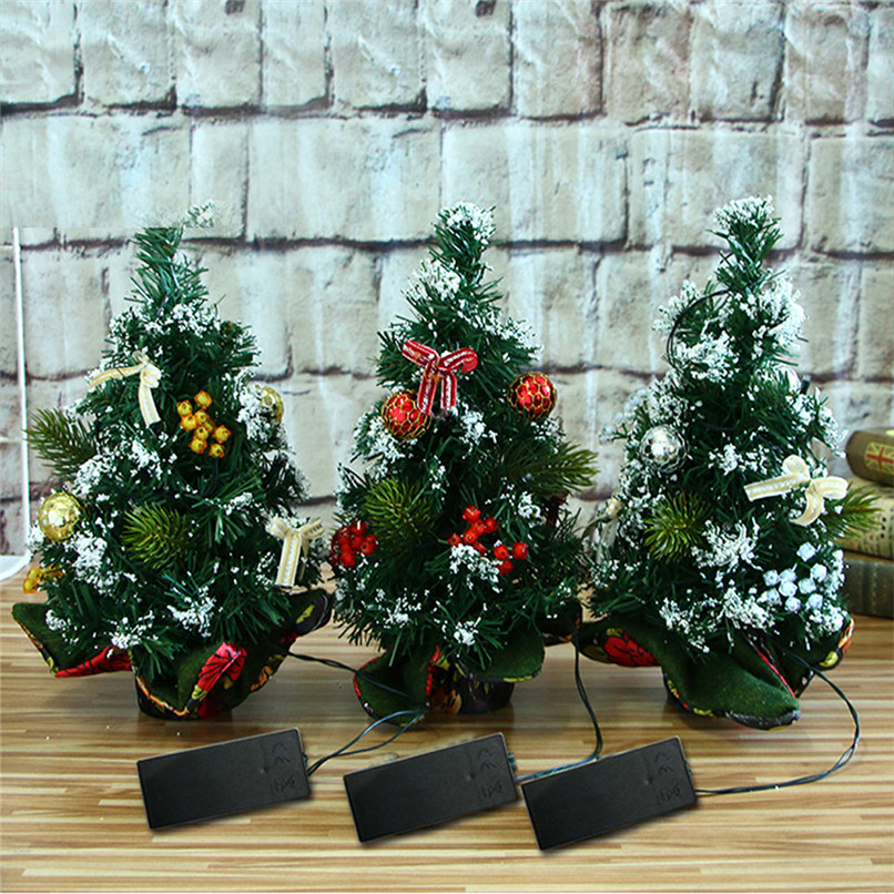 New Arrival Merry Christmas LED Glow Tree Bedroom Desk Decoration Gift Office Home Wholesale Free Shipping 30RJ24 ...