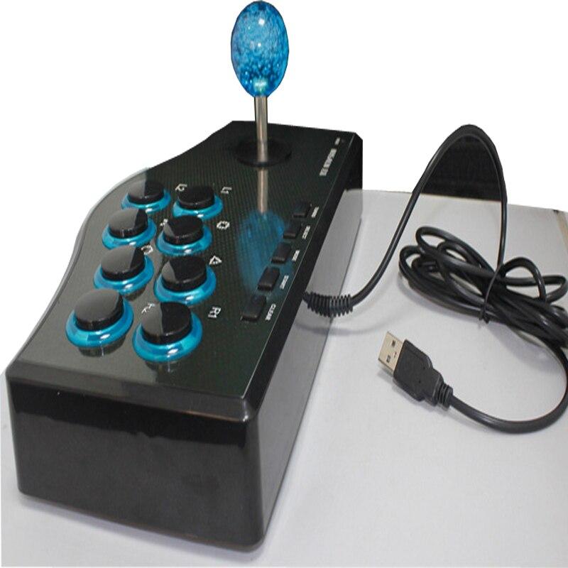 USB Борьба Стик Аркады Джойстики геймпад рокер контроллер plug and play street игры борьба геймпад для PS3/pc для android