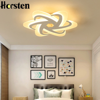 Современный Креативный 58 см 48 Вт светодиодный Потолочные светильники простые Цветочные абажур потолочный светильник для спальни столовой