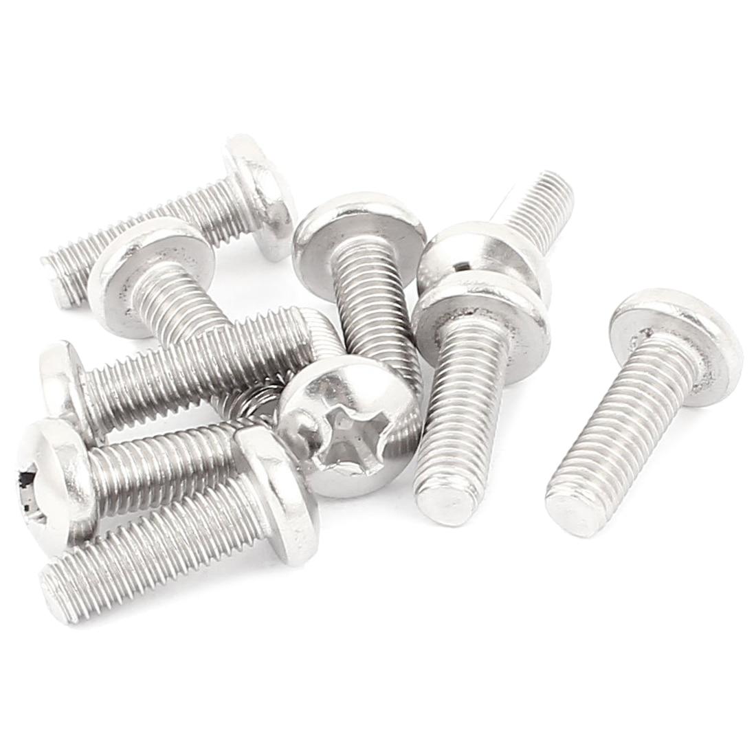 TV to Wall Mount Bracket M8 Thread Round Phillips Screws Bolts 10pcs universal aluminum internal thread round servo mount bracket silver