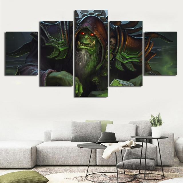 Pósteres de videojuegos de 5 piezas gran oferta decoración del hogar marco de fotos obras de arte Cuadros arte de pared impreso GulDan lienzo en módulos pintura