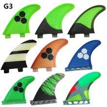 NOUVEAU srfda en fiber de verre de miel peigne Ailettes vert de planche de surf/fcs fin Avenir/moitié carbone/surf/fcsG3 ailettes S taille