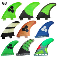Trhoda FCSAM 3 Surfboard Fins With Fiberglass Honey Comb Material Tri Set