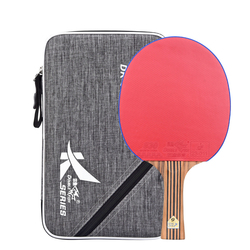 Neue Doppel Fisch 7 schichten Carbon Tischtennis Schläger Pingpong Paddel Schläger Bat DK 6 Ausgestelltes Lange Griff Mit Polnischen textur Tasche