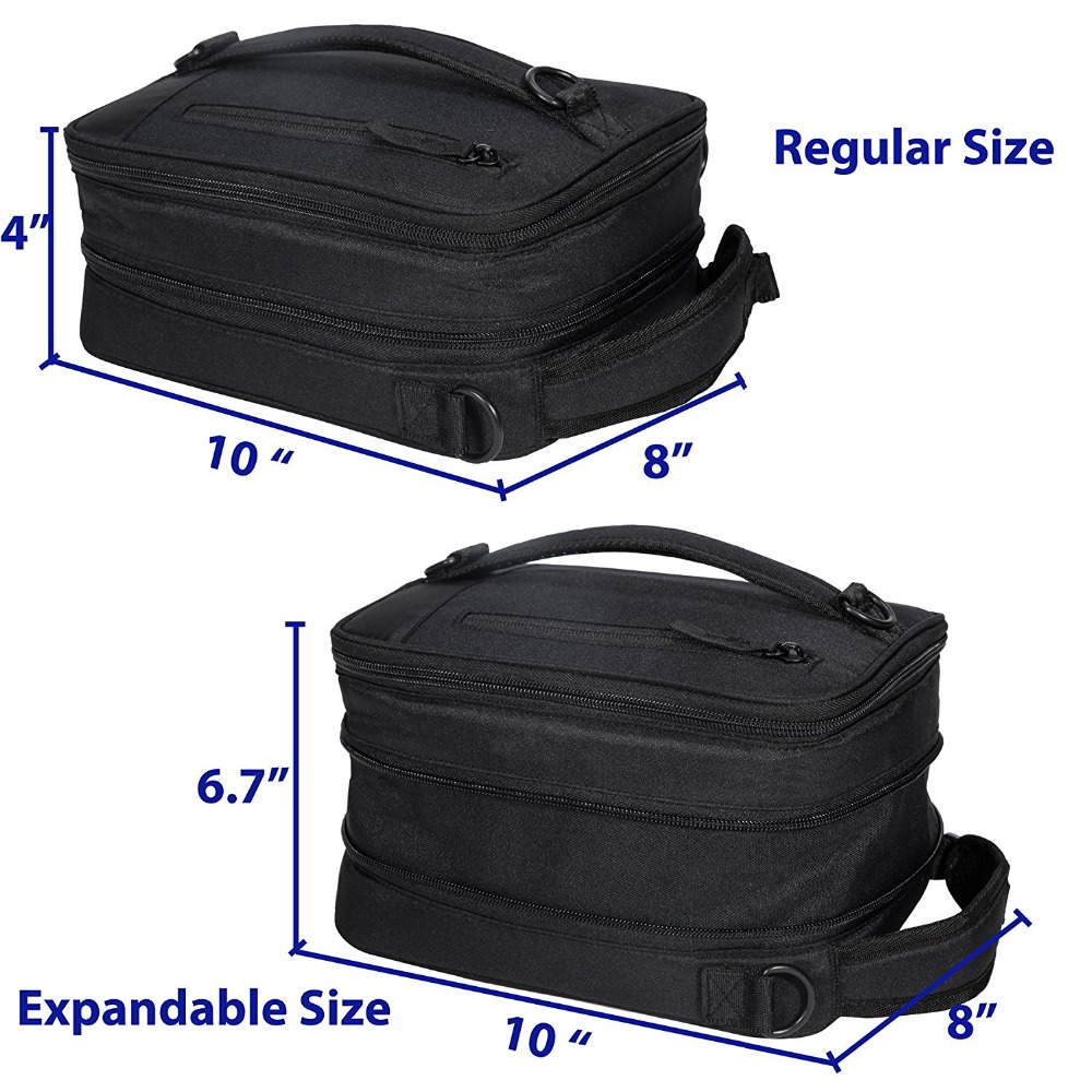 Aliexpress Mier Black Portable Cooler Lunch Pack For Men Women And Kids Insulated Expandable Box Bag From Reliable Suppliers On