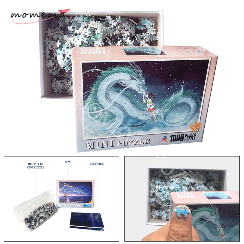 MOMEMO Spirited Away Jigsaw Puzzles For Adults Cartoon Puzzle Anime Wooden Puzzle 1000 Pieces Adult Kids DIY Educational Toys