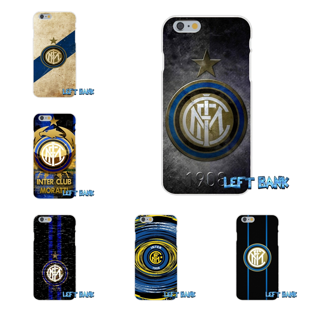 For Inter Milan Football Club Logo Slim Silicone Case For iPhone X 4 4S 5 5S 5C SE 6 6S 7 8 Plus