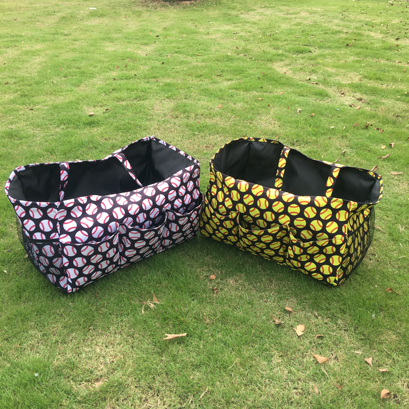 Ball Printed Large Size Garden Tool Pocket Bag Tool Hanging Tote Utility Tote Team Accessories Organizer