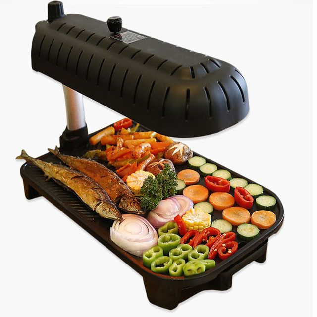 220v Smokeless Household Electric Grill Non Stick Korean Barbecue Grade Machine Bbq For Family Party