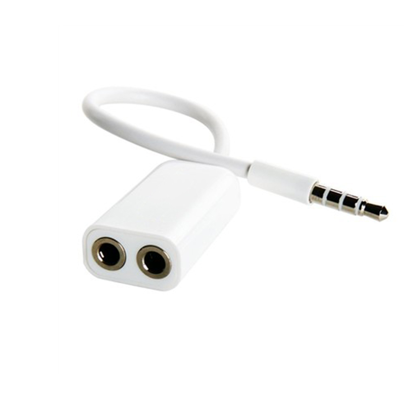 1 Male to 2 Female 3.5 Jack Aux Audio Cable Headphone Splitter for Apple iPhone 4 5 5s 6 6S 7 plus iPad iPod laptop MP3 speaker все цены