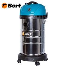 Пылесос для сухой и влажной уборки Bort BSS-1630-SmartAir (Мощность 1600 вт, стальной бак 30 л, функция выдува, HEPA фильтр, система очистка фильтра)