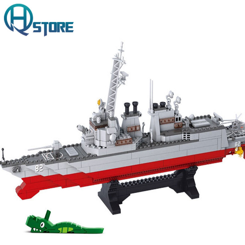 Aircraft Carrier Building Blocks B0390 Educational DIY Brick Thinking Toy for Children Compatible with legoelieds