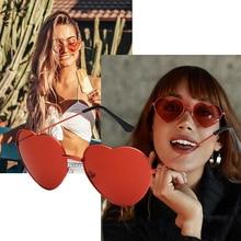 Ladies Heart Shaped Sunglasses Women Metal Frame UV400 yuanzhiweilai Brand Designer Cat Eye Sun Retro glasses