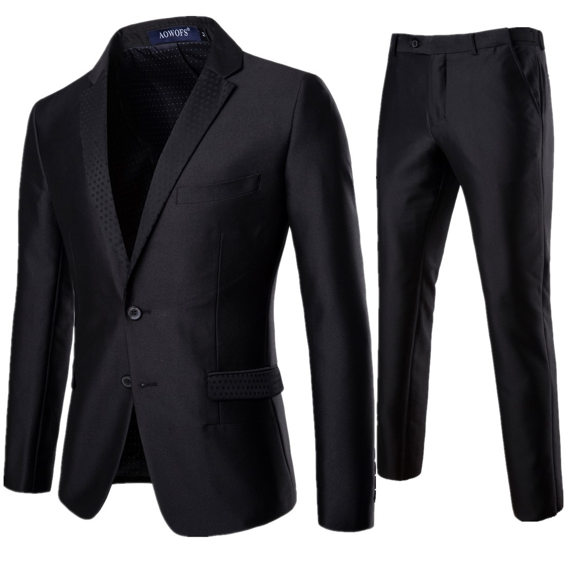 2019 Men'S Suits Set Of 2 Sets Of Business Luxury Dresses Groomsmen Groom Wedding Dress Party Party Costumes