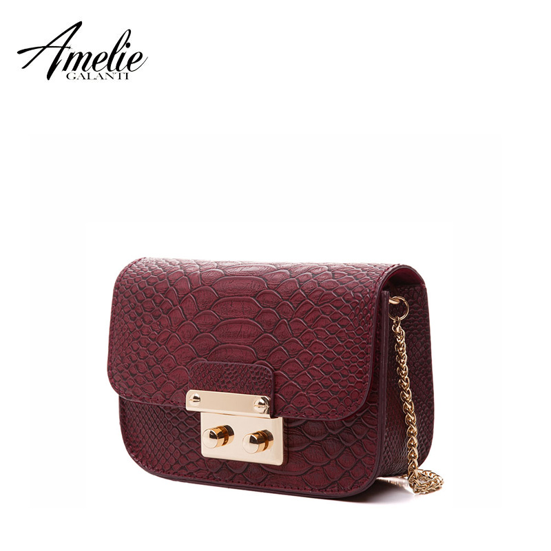AMELIE GALANTI new women message bags flap serpentine chains shoulder bag high quality PU small sequined fashion cover bag 2017 купальник amelie im68n41 imis