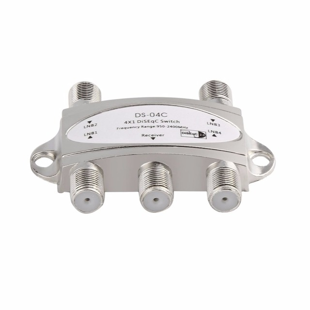 2017 New Wideband 4x1 DiSEqC 2.0 Model 4x1W Premium Satellite Switch FTA Dish LNB High Isolation Switch For Satellite Receiver 1