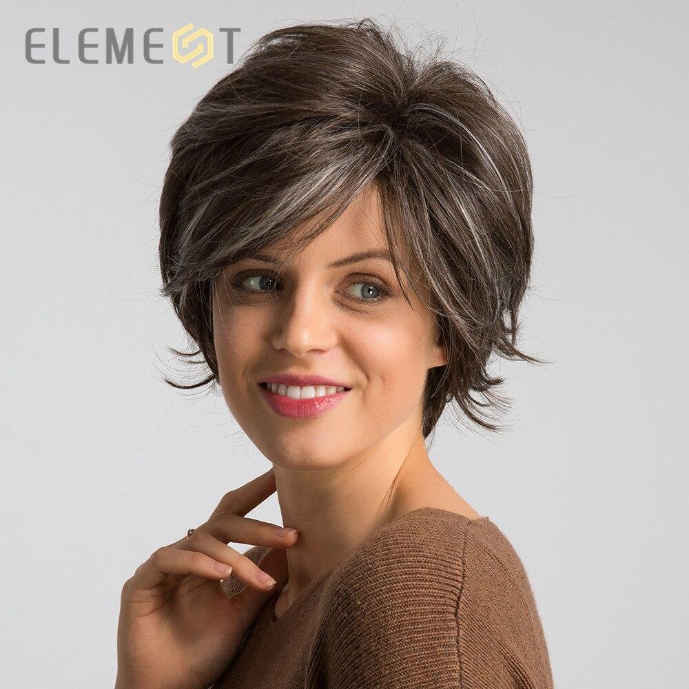Купить элемент 6 дюймов синтетические короткие естественная волна парик