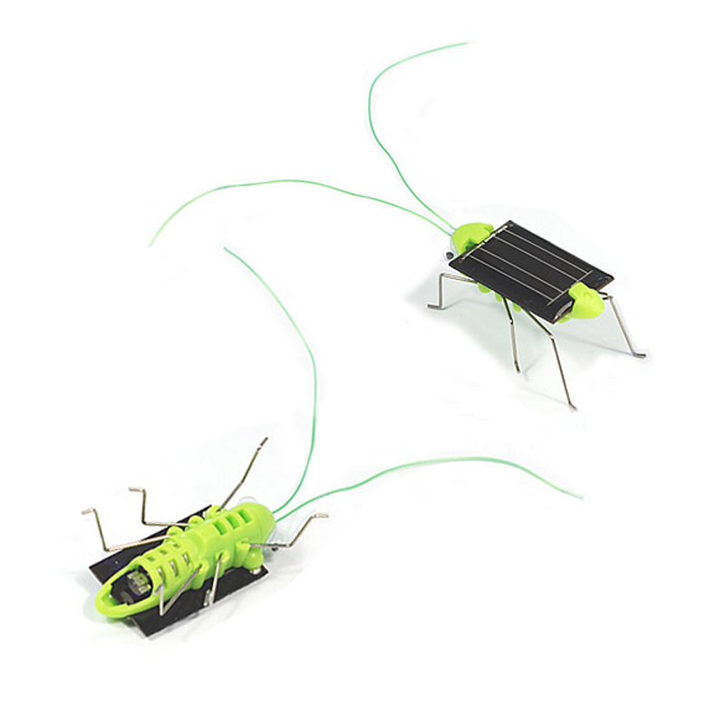 Mini Solar Power Energy Crazy Grasshopper Toy Cute Cricket Toy Educational Solar Power Toy for Preschool Kids Students ...