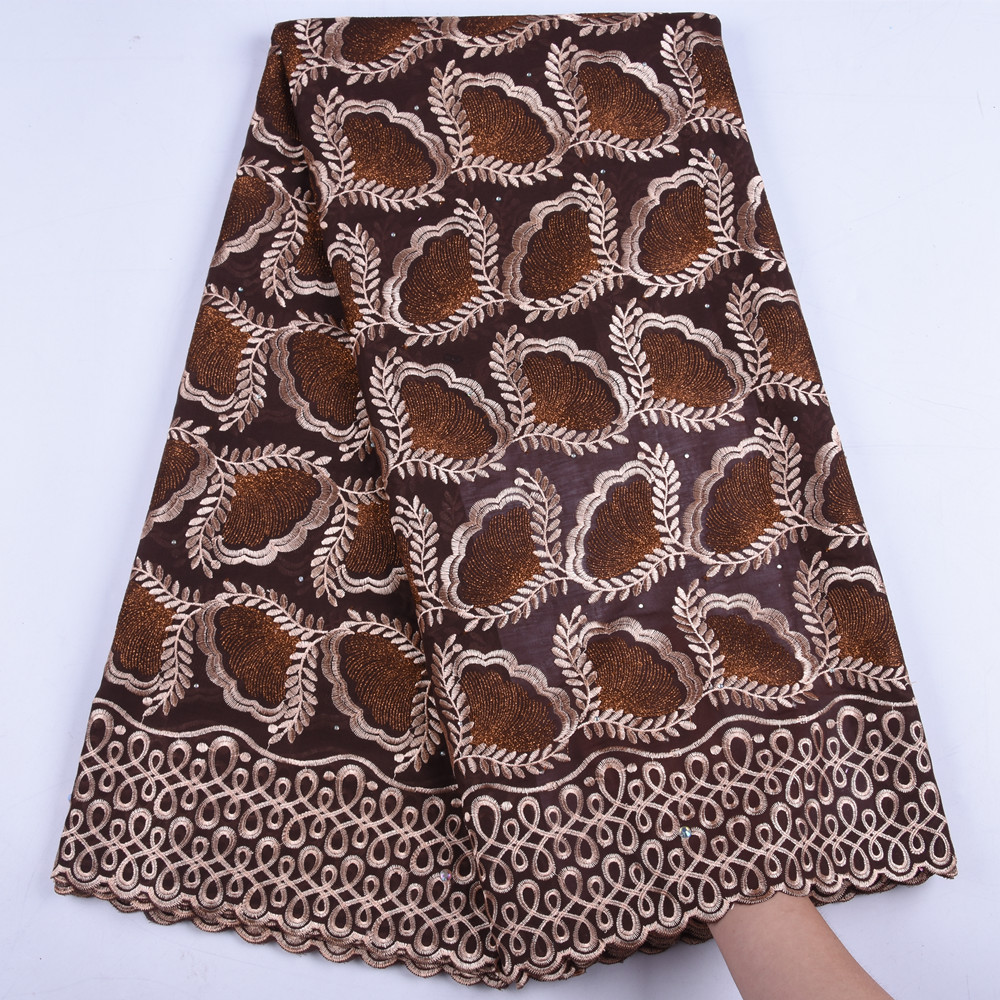 Cheap Swiss Voile Lace In Switzerland African Dry Lace Fabric With Stones High Quality Nigerian Cotton