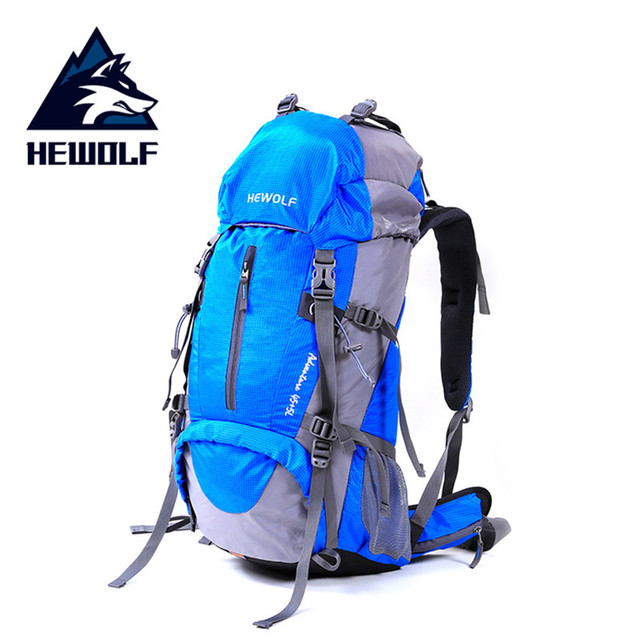 Hewolf Climbing Bag Hewolf Outdoor 45L+5L Hiking Backpack Daypack Outdoor Sport Trekking Camping Fishing Travel  Rain Cover