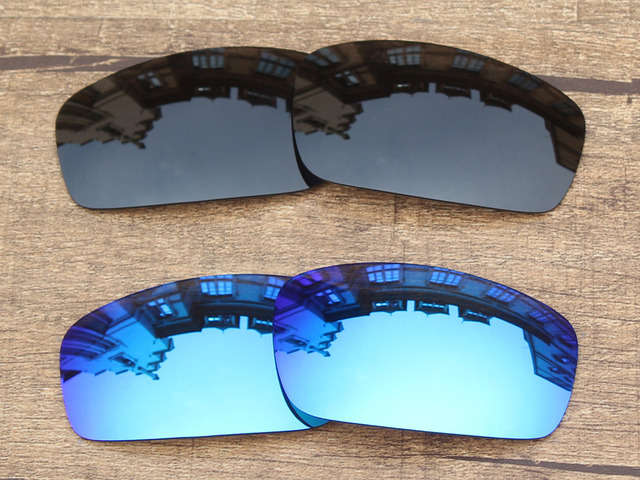 Aliexpress.com : Buy Black & Ice Blue 2 Pairs Polarized Replacement ...