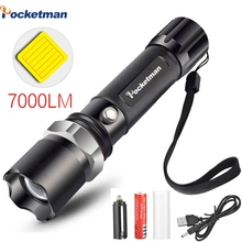 Portable Ultra Bright XM-L T6 Aluminum Zoomable Waterproof Led Flashlight Torch Tactical light AAA 18650 Rechargeable Battery e17 xm l t6 3800lm aluminum waterproof zoomable led flashlight torch light for 18650 rechargeable battery or aaa