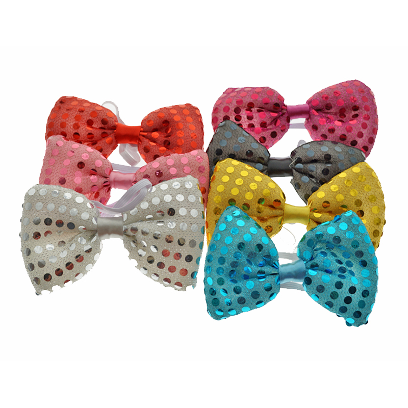 Led Toys Flashing Light Up Bow Tie Necktie LED Female Male Party Light Sequins Tie Wedding Decoration Halloween Glow In The Dark (1)