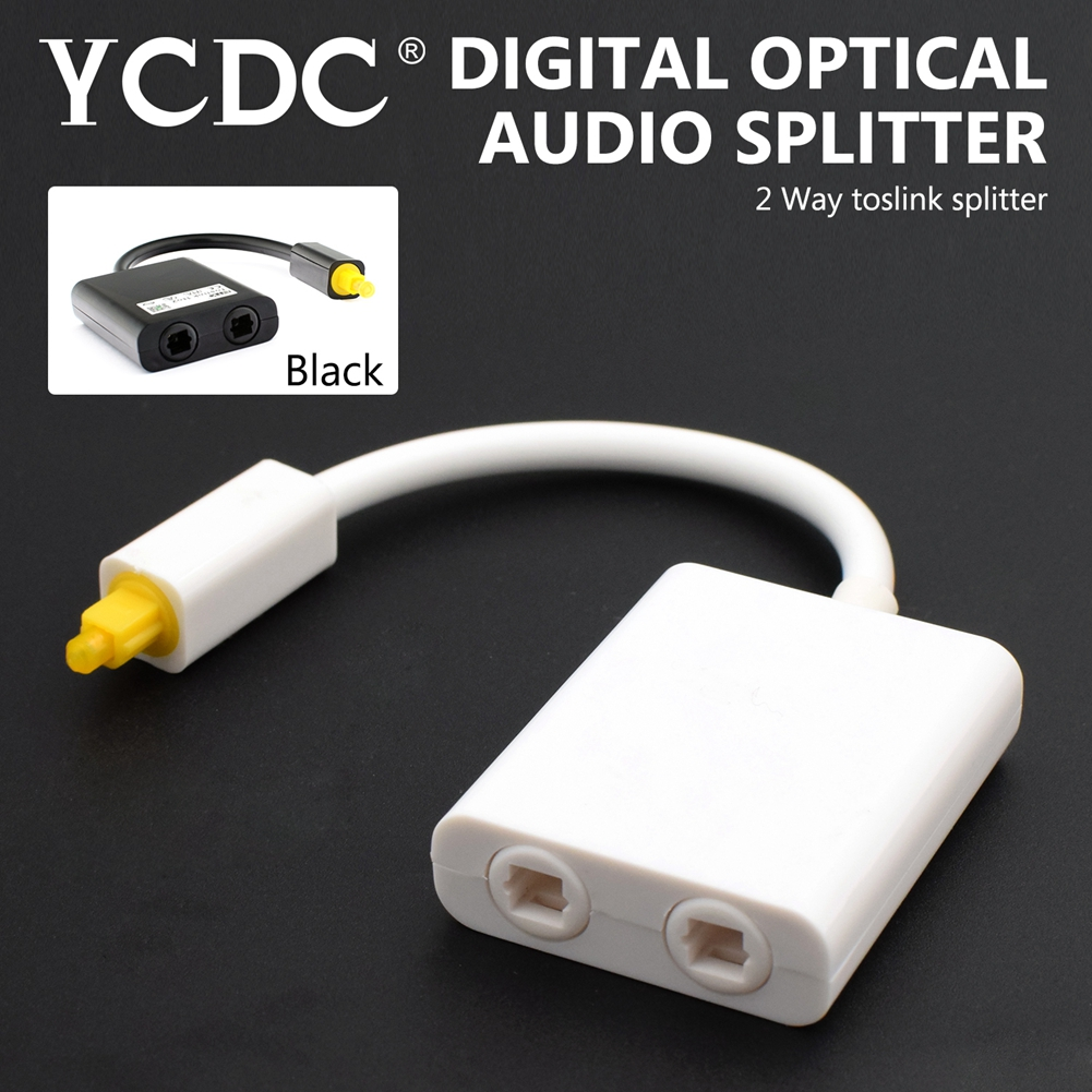 YCDC White Mini USB Digital Toslink Optical Fiber Audio 1 to 2 Female Splitter Adapter Micro Usb Cable Accessory High Quality