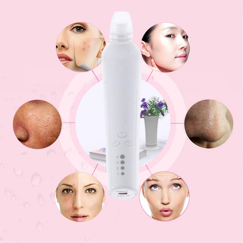 Facial Pore Vacuum Blackhead and Comedone Remover Machine Acne Extractor Cleanser Skin Peeling Face Blackhead Blemish Removers
