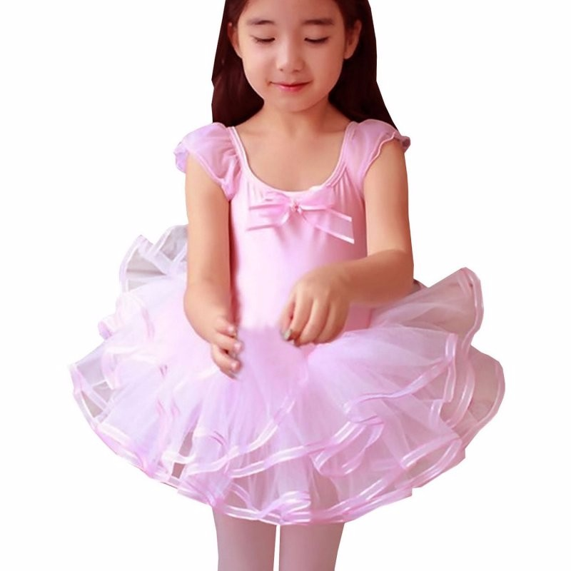 d43d620205ab Lace Ballet Dance Dress For Girls Kids Party Ballet Tutu Baby Dress ...