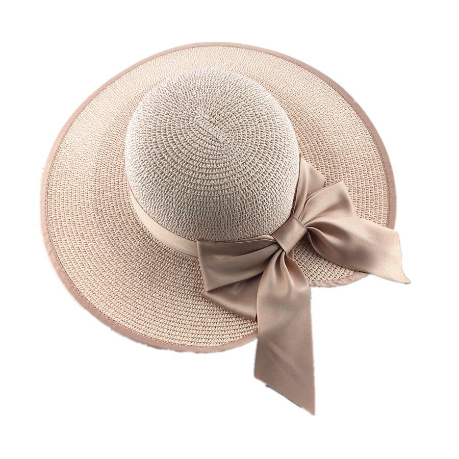 La MaxPa  Estilo QUENTE de verão grande aba do chapéu de palha ... 1571cf9bd09