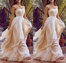 2016 eine line prom kleider lange abendkleider schatz chiffon champagne abendgesellschaft kleider vestido de festa