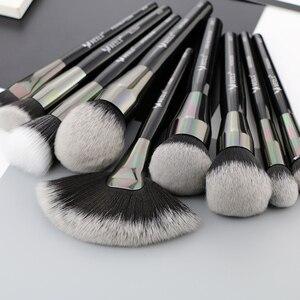 Image 4 - Набор профессиональных натуральных кистей для макияжа BEILI Black, 25 шт., тени для век, подводка для бровей, консилер, кисти для макияжа