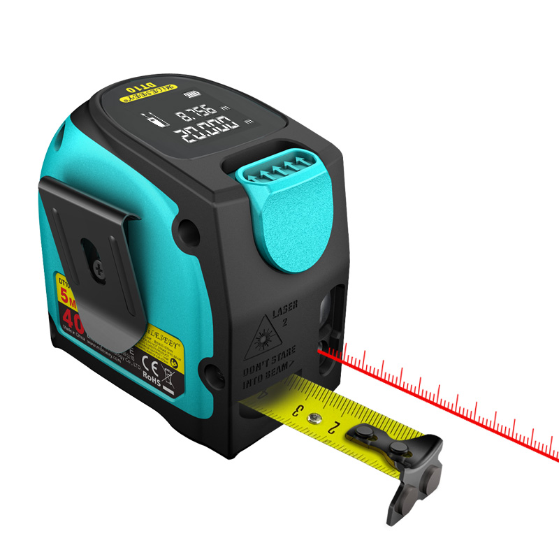 Mileseey DT10 Laser Tape Measure 2-in-1 Digital Laser Measure Laser Rangefinder with LCD Digital Display,Magnetic Hook new 3 in 1 digital tape measure string sonic roller mode laser tool