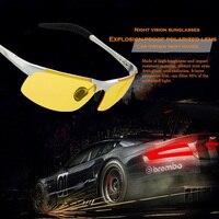 Hot Sale Men S Aluminum Magnesium Car Drivers Night Vision Goggles Anti Glare Polarizer Sunglasses Driving