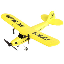 New FX FX803 RC Helicopter 2CH 2.4G Aircraft Glider Kid Toys with Transmitter Yellow