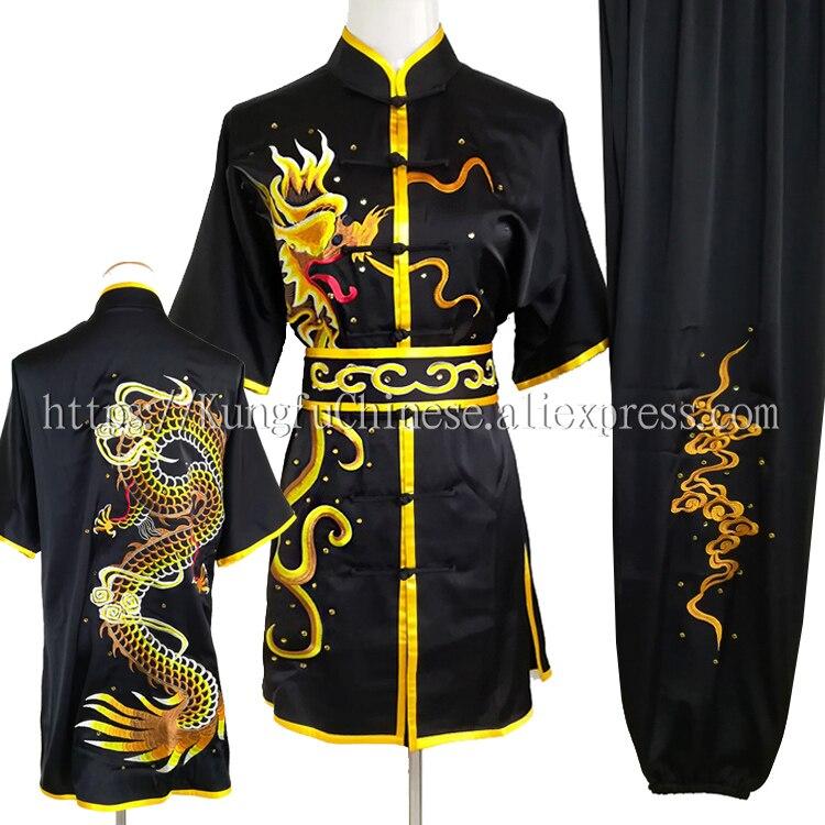 US $99 43 17% OFF Chinese Wushu uniform Kungfu clothing Martial arts suit  taolu garment embroidery costume for men women children kids boy girl on