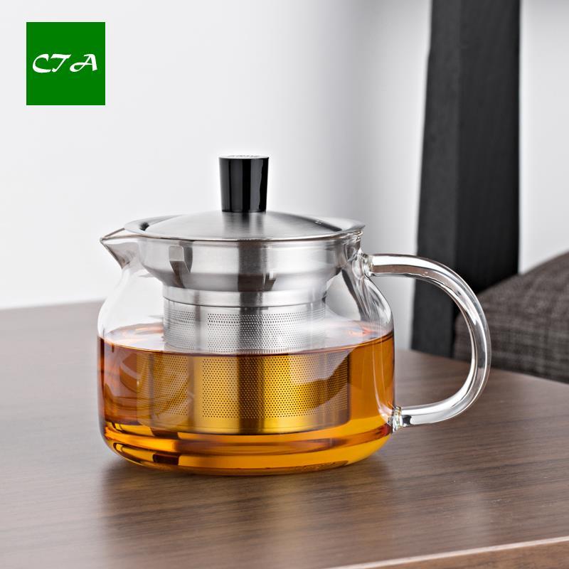 Moderne Teekanne hitzebeständigem glas moderne teekanne mit edelstahl sieb 470 ml